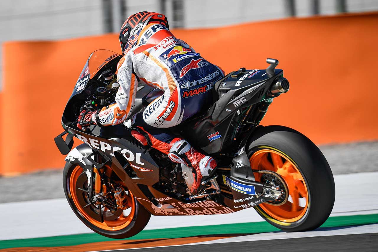 MotoGPバレンシアテスト:初日はクアルタラロがトップタイム。マルケスは2020年型ホンダRC213Vを走らせる