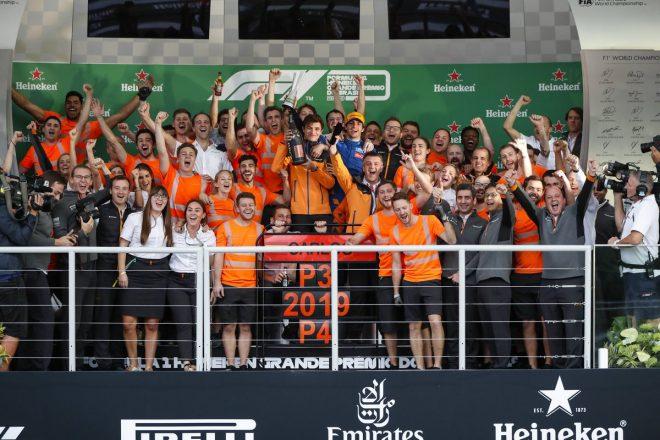2019年F1ブラジルGP マクラーレンが表彰台&2019年コンストラクターズ選手権4位を獲得