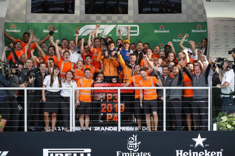 F1 | マクラーレンF1、サインツの3位で2019年選手権4位が確定「いずれ純粋なパフォーマンスで表彰台をつかむ」と代表