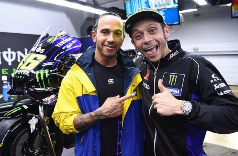 F1 | ハミルトン、MotoGPマシンの初試乗を控え大興奮「バレンティーノと一緒にコースに立てるなんて夢のよう」