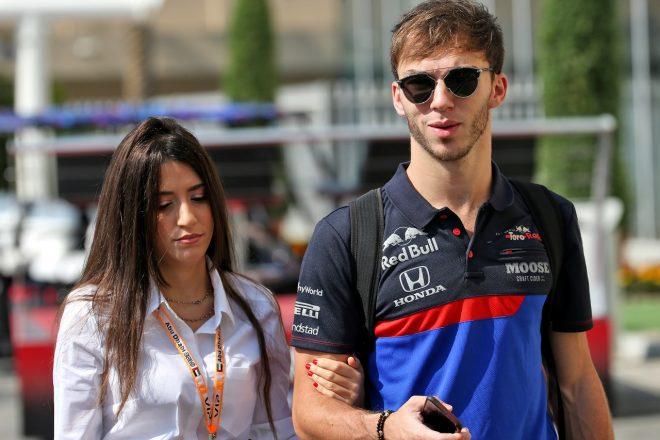 2019年F1第21戦アブダビGP ピエール・ガスリー(トロロッソ・ホンダ)とガールフレンドのカテリーナ・マゼッティ・ザニーニさん