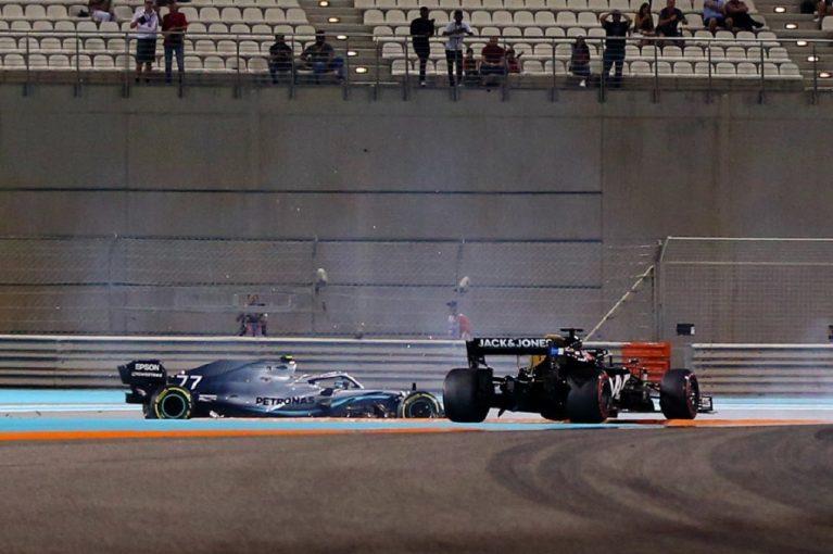 F1 | 初日最速ボッタス、接触で戒告処分受ける「グロージャンが見ていないとは思わなかった」:メルセデスF1