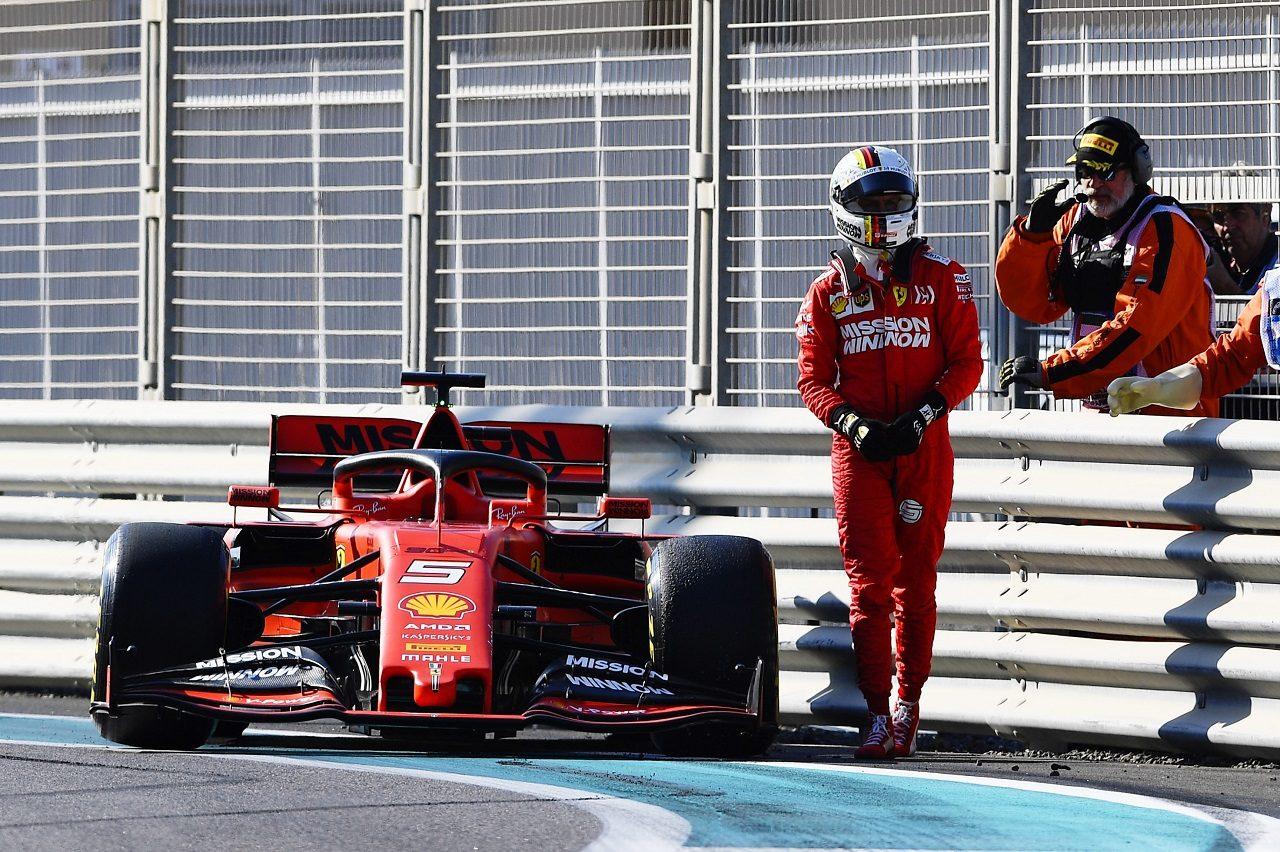 2019年F1第21戦アブダビGP FP1でセバスチャン・ベッテル(フェラーリ)がクラッシュ