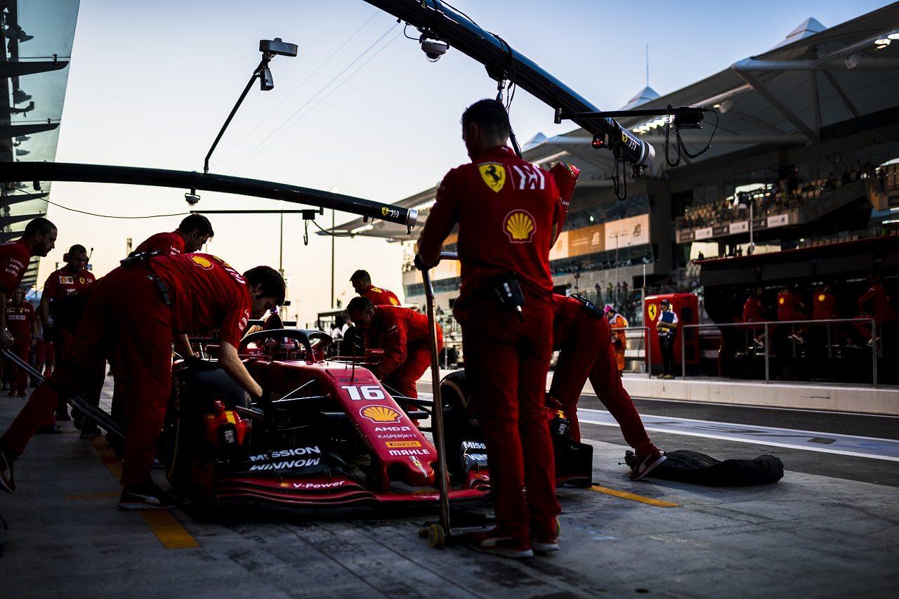 2019年F1第21戦アブダビGP シャルル・ルクレール(フェラーリ)