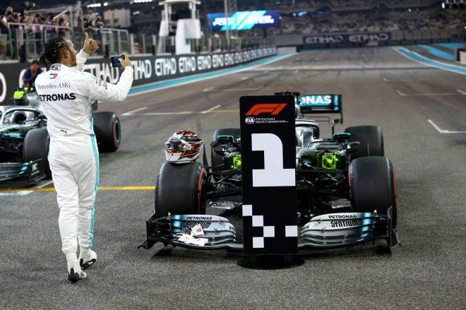 2019年F1最終戦アブダビGP ルイス・ハミルトン(メルセデス)がポールポジション
