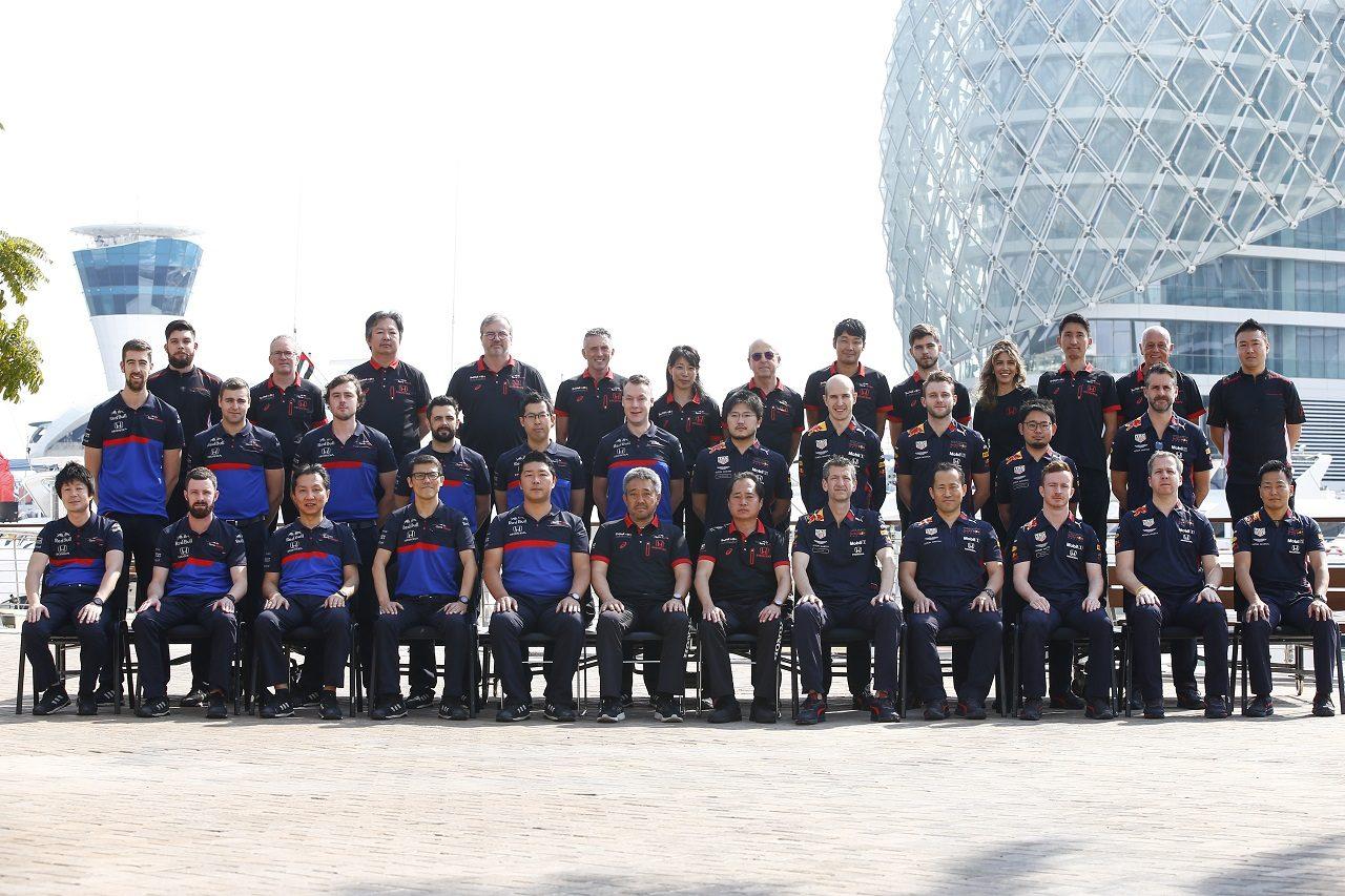 2019年F1第21戦アブダビGP ホンダF1が記念撮影