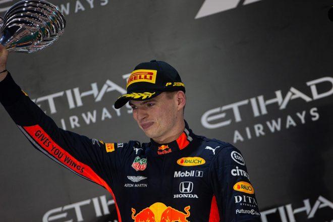 2019年F1第21戦アブダビGP マックス・フェルスタッペン(レッドブル・ホンダ)が2位表彰台を獲得