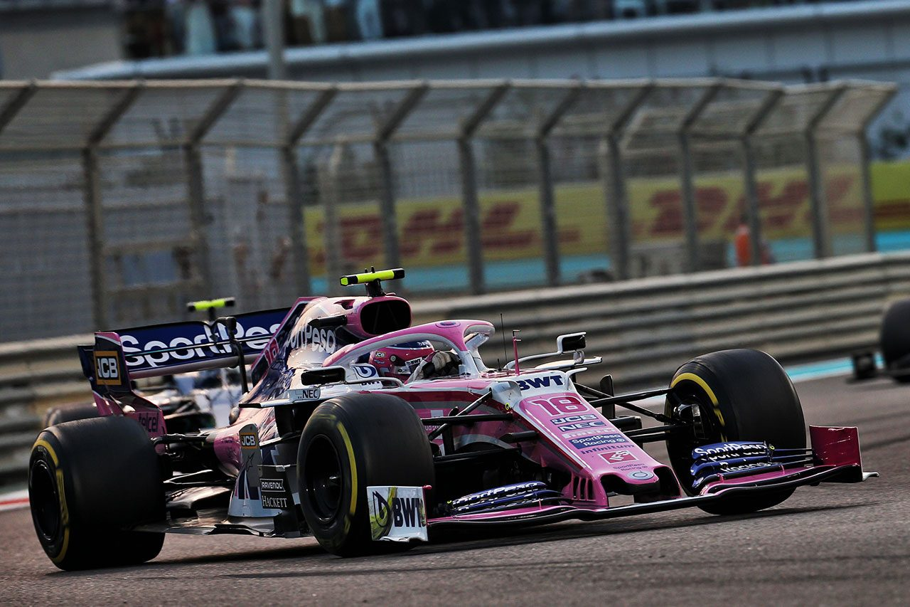 2019年F1最終戦アブダビGP ランス・ストロール(レーシングポイント)