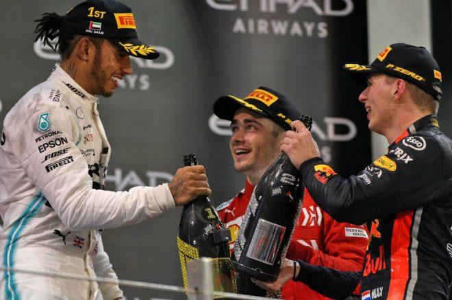 2019年F1最終戦アブダビGP 表彰台
