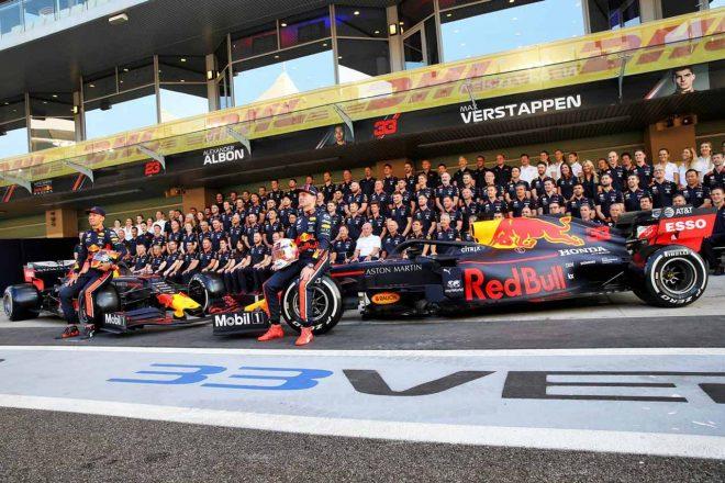 2019年F1第21戦アブダビGP レッドブル・レーシングの記念撮影
