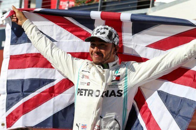 2019年F1第19戦アメリカGPで自身6度目のチャンピオンを決めたルイス・ハミルトン(メルセデス)