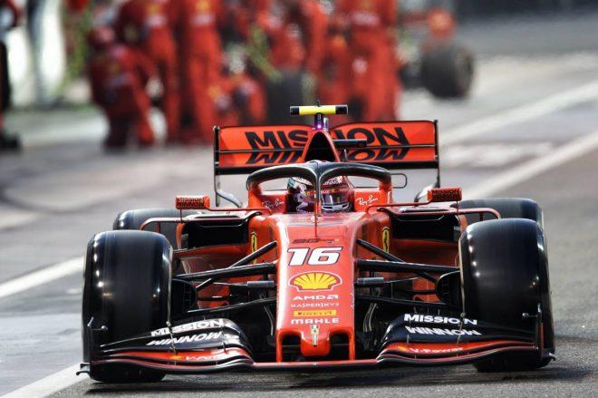 2019年F1最終戦アブダビGP シャルル・ルクレール(フェラーリ)