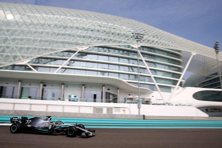 F1 | 【F1アブダビテスト総合結果】2019年タイヤのボッタス/メルセデスが最速。ホンダF1勢トップはガスリー