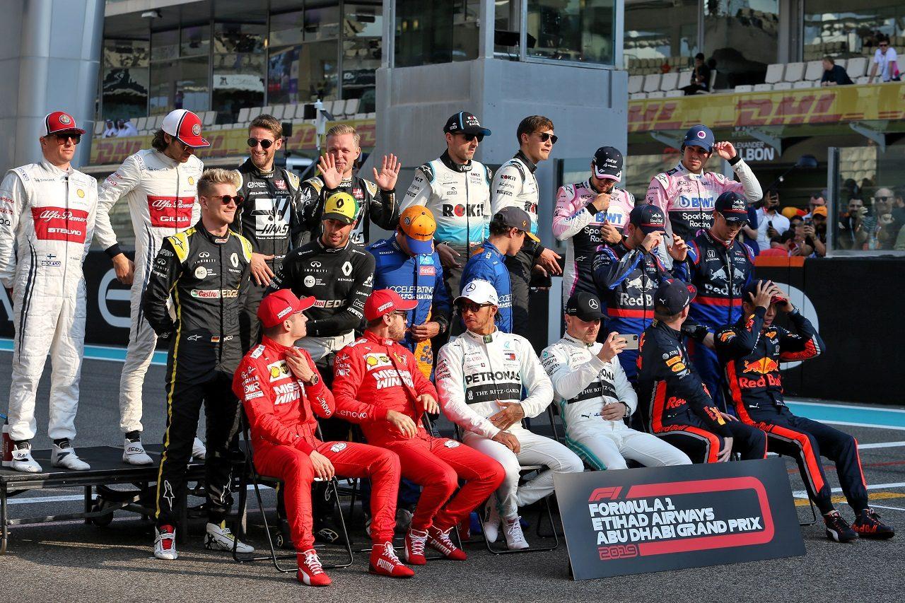 2019年F1第21戦アブダビGP ドライバー記念撮影