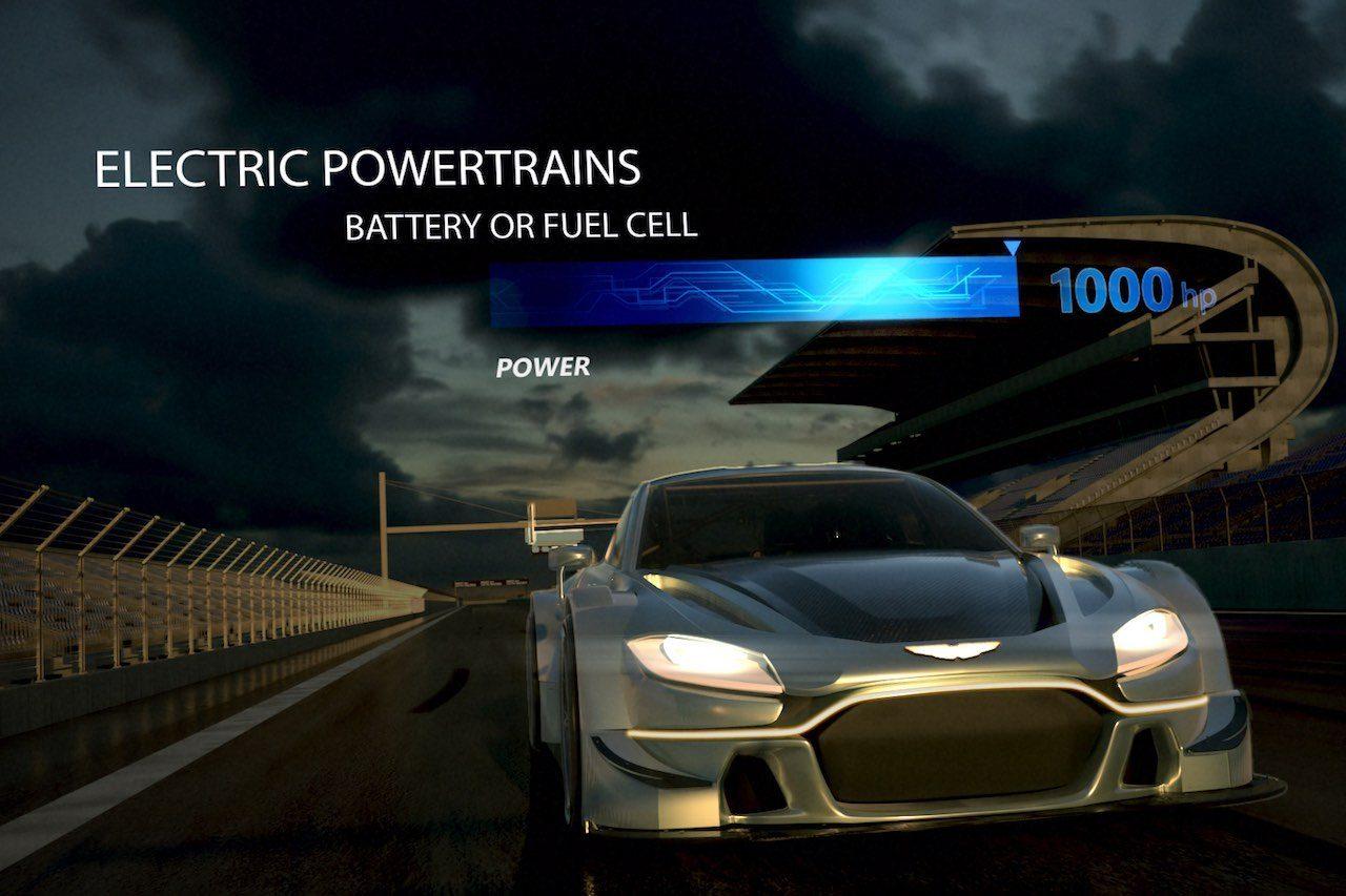 DTMのハイブリッド燃料電池コンセプトの近未来スタディ
