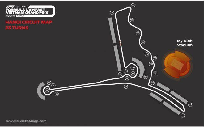 F1ベトナムGPが開催されるハノイ・サーキットのレイアウト