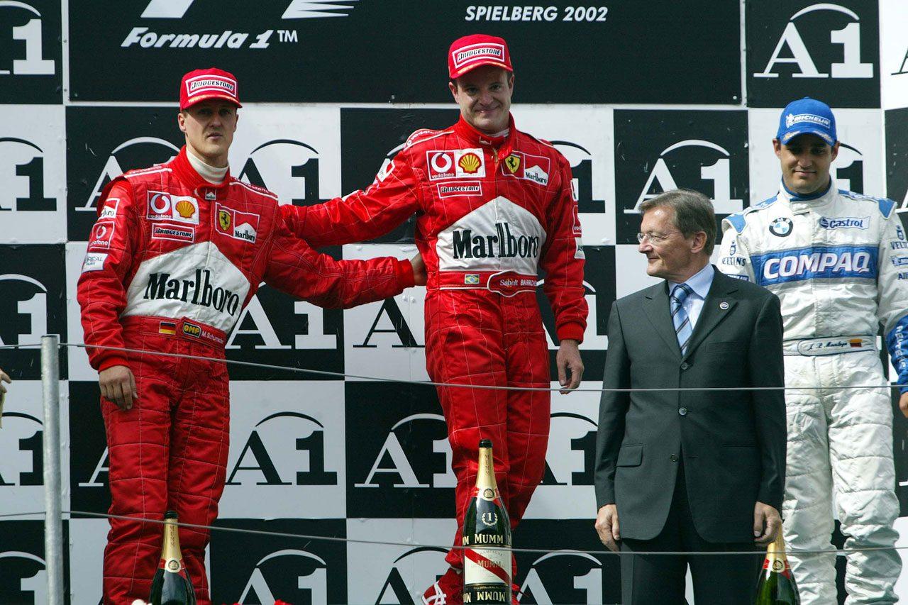 2002年F1第6戦オーストリアGP 表彰台