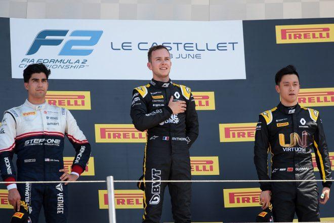 2019年FIA-F2ポール・リカール戦で優勝したアントワーヌ・ユベール