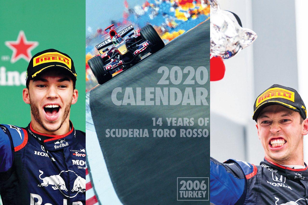 スクーデリア・トロロッソ、14年の歴史を振り返る2020年カレンダーが公式サイトで公開中