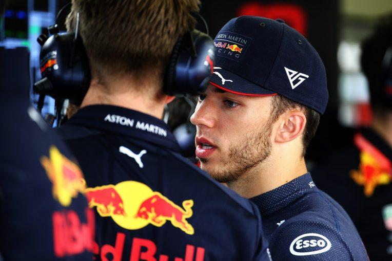 F1   トロロッソ・ホンダF1で表彰台のガスリー「レッドブルで復調を果たせなかったことが残念」