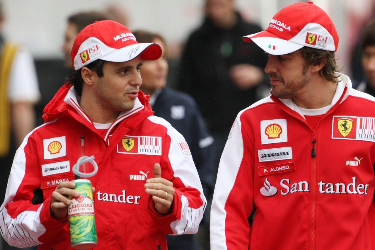 2010年F1韓国GPでのマッサとアロンソ