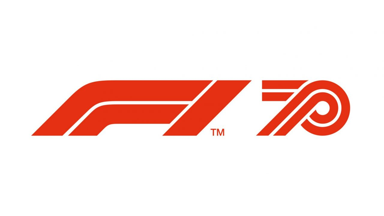 F1世界選手権70周年を記念するロゴ