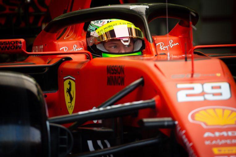 F1   フェラーリF1代表、シューマッハーがF1昇格の有力候補であることを認めるも、2021年の起用は「早すぎる」と語る