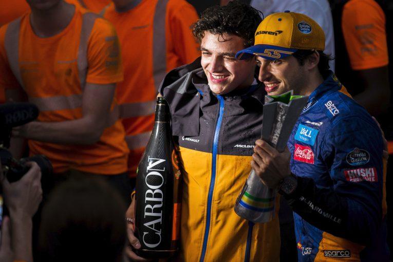 F1   マクラーレンF1首脳陣、サインツJr.とノリスを称賛「ふたりは未来のチャンピオンだと感じる」