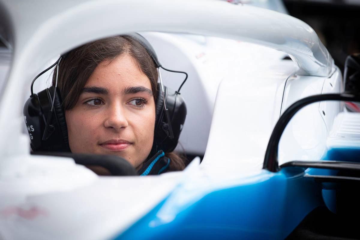 2019年F1第10戦イギリスGP ジェイミー・チャドウィック(ウイリアムズ 開発ドライバー)
