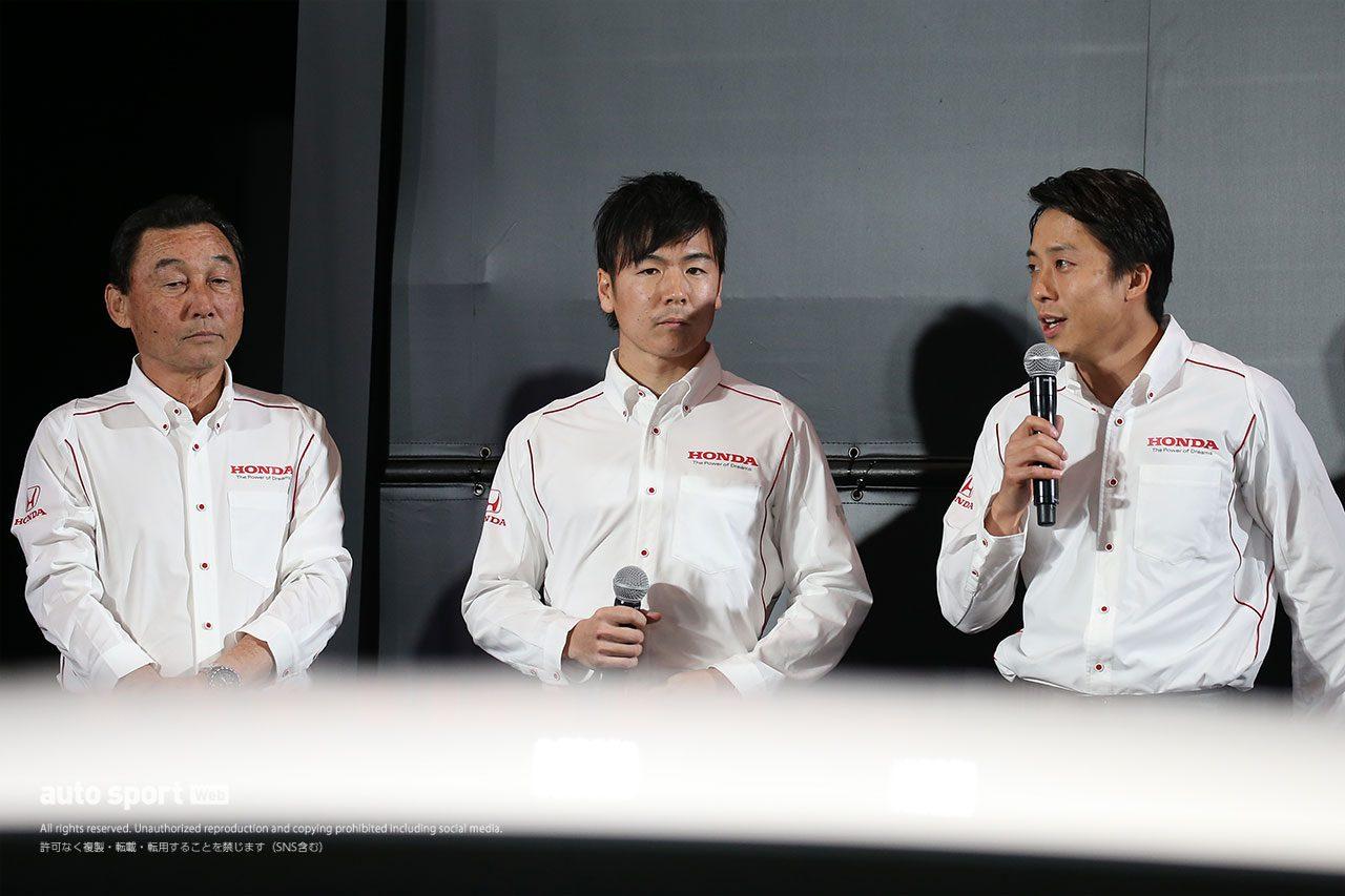 Modulo Nakajima Racingの中嶋悟総監督、伊沢拓也、大津弘樹