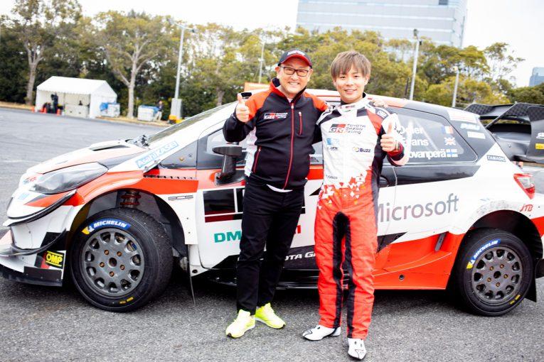 ラリー/WRC   東京オートサロン2020で豊田章男社長がヤリスWRカーをサプライズラン。ラリー・ジャパン参戦にも意欲