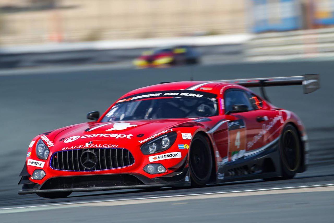 ドバイ24時間:ブラックファルコンのメルセデスが優勝。GT4は柳田組アトラスBXが優勝を飾る