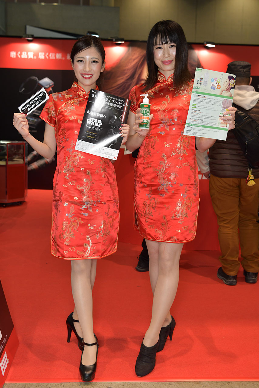 東京オートサロン2020コンパニオンギャラリー<br>Elut&hpドライブレコーダー