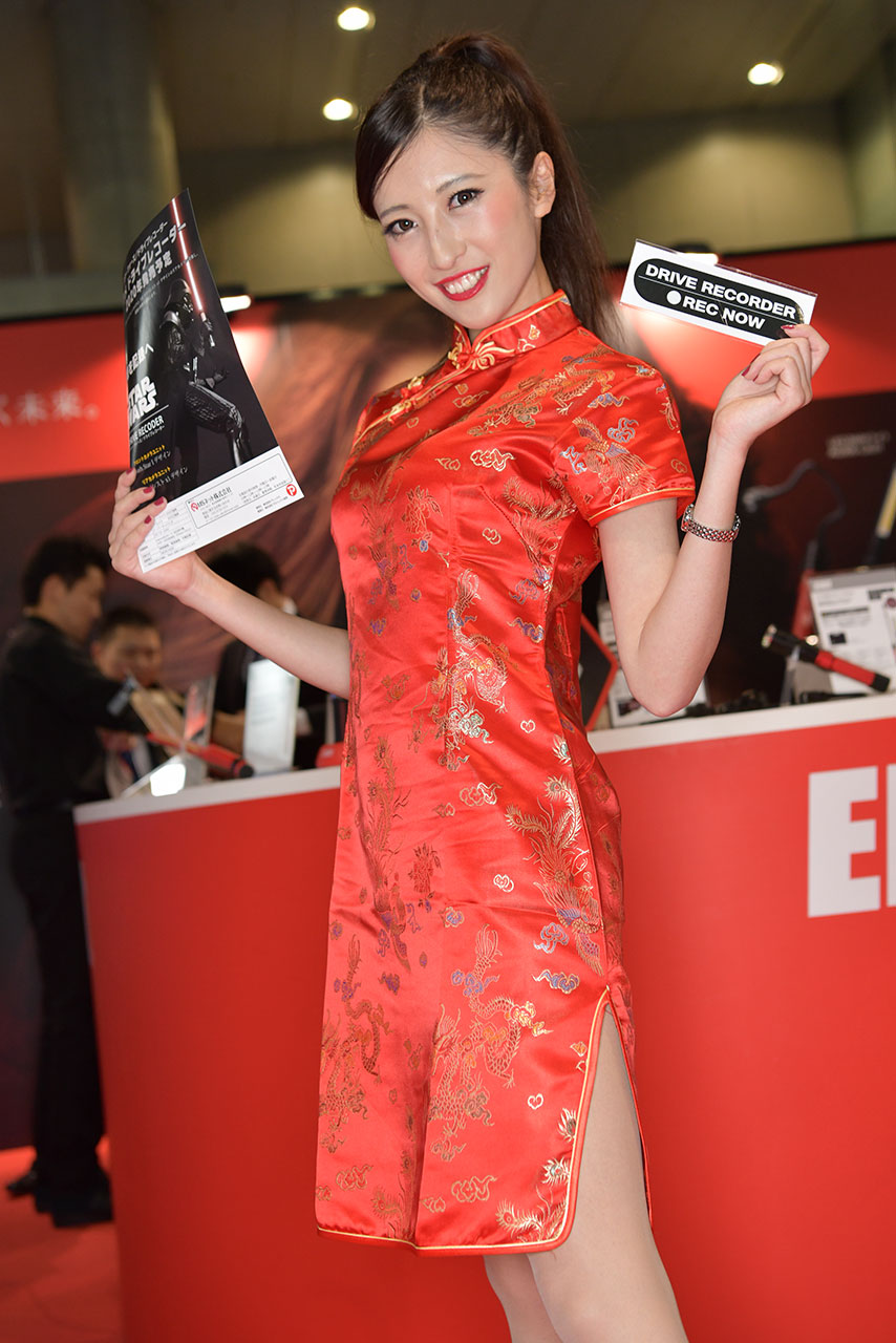 東京オートサロン2020コンパニオンギャラリー<br>Elut&hpドライブレコーダー/朝比奈愛弥