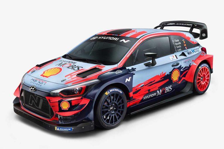 ラリー/WRC   WRC:ヒュンダイ、2020年型i20クーペWRCを公開「全戦で優勝を争い、タイトル獲得を目指す」