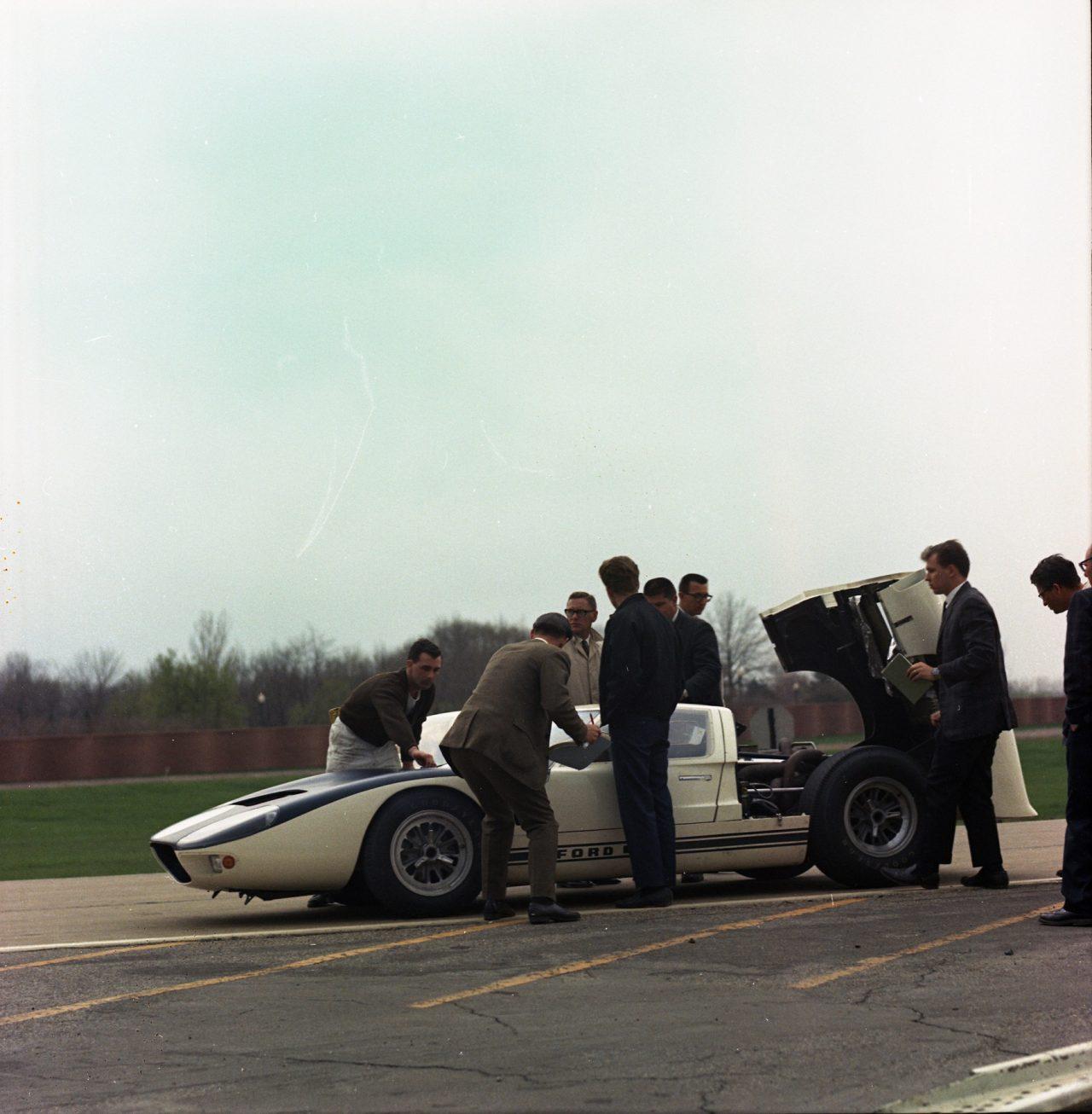 フォードの広報写真として残る1965年テストシーン