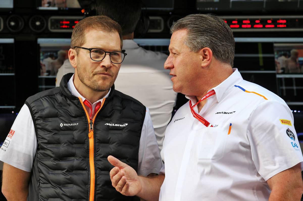 2019年F1最終戦アブダビGP アンドレアス・ザイドル(マクラーレンF1チーム テクニカルディレクター)とザク・ブラウン(マクラーレン ・レーシングCEO)