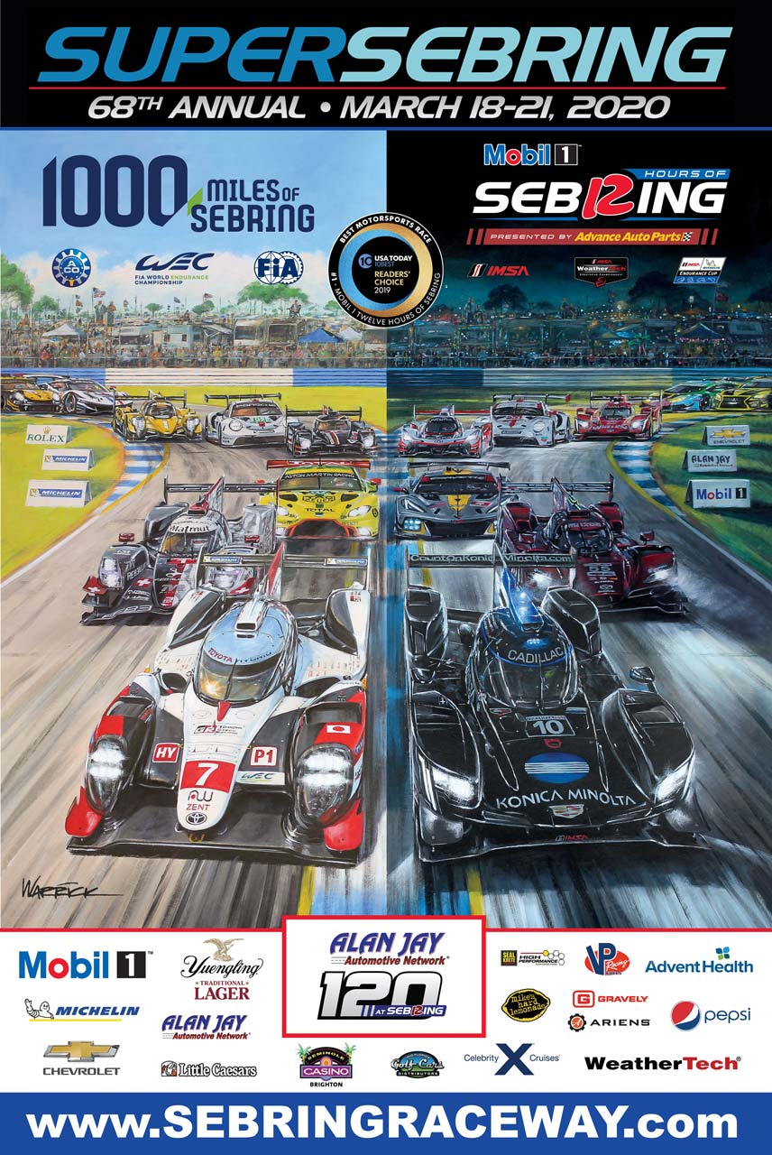 WEC&IMSAのダブルヘッダー『スーパーセブリング』公式ポスター公開
