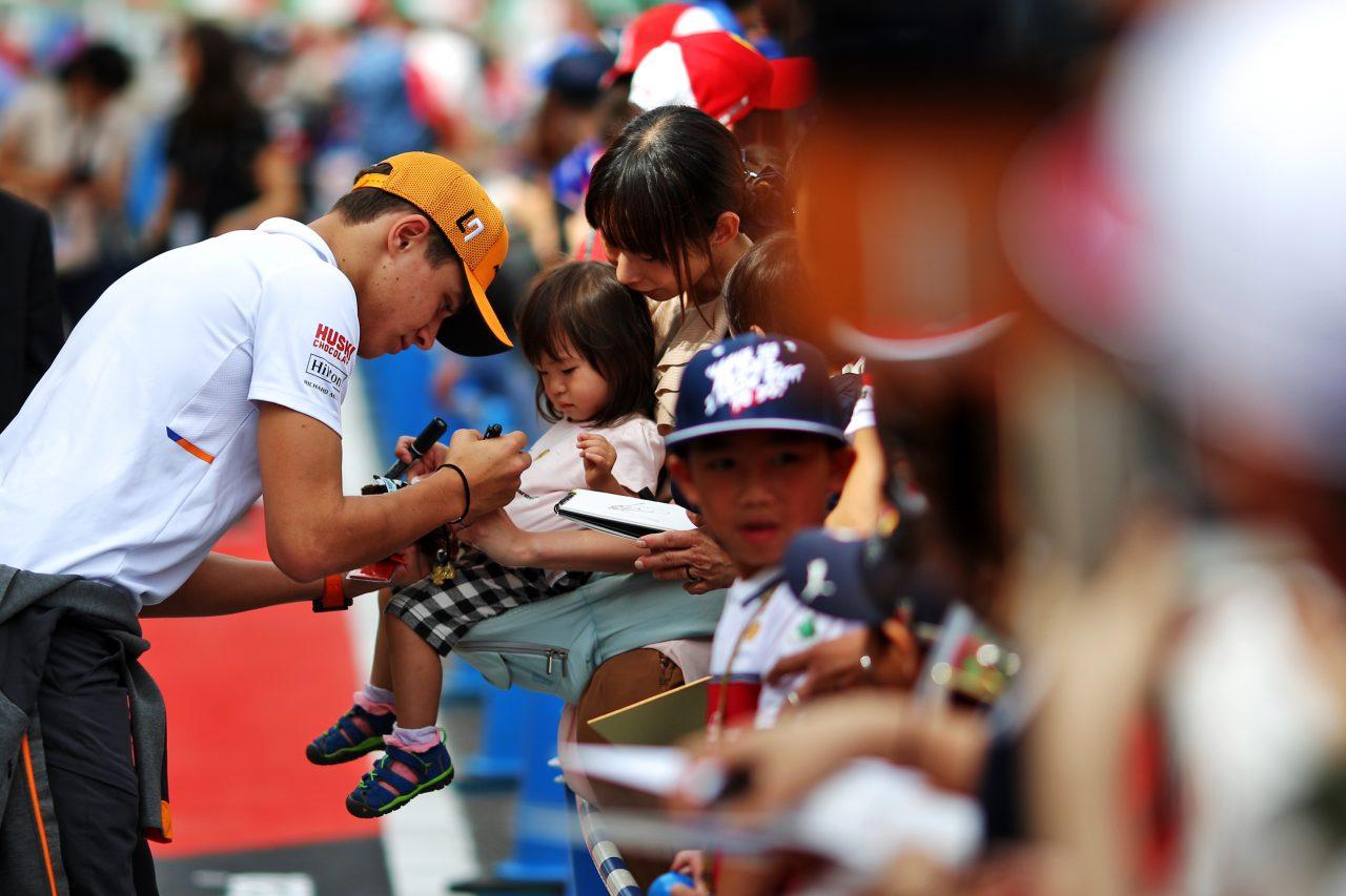2019年F1日本GPでのノリス