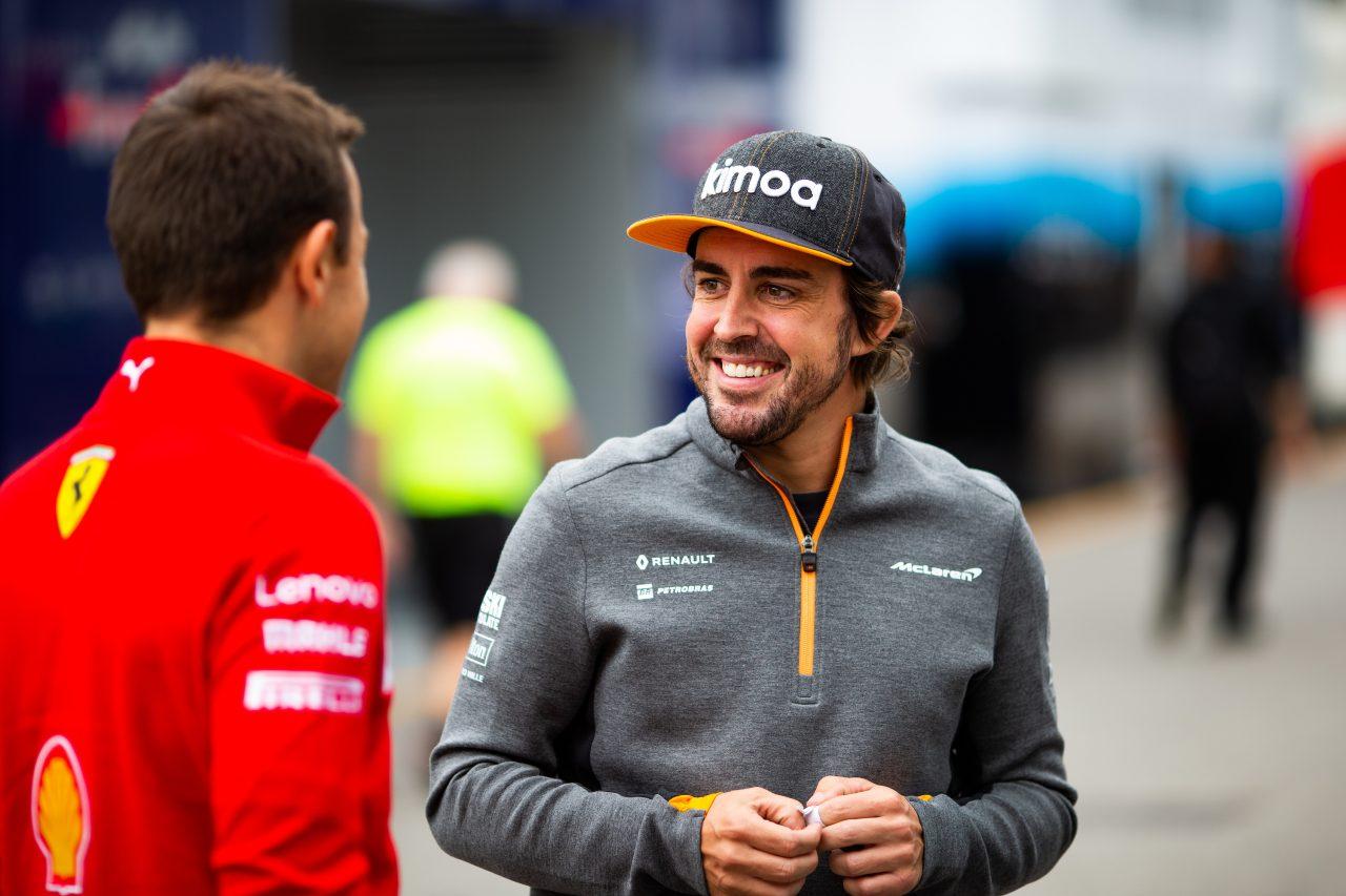 2019年F1イタリアGPでのアロンソ