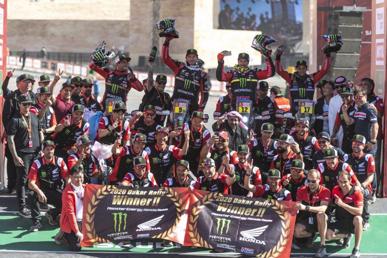 ダカールラリー2020:ホンダ31年ぶりの栄冠。二輪部門はリッキー・ブラベックが総合優勝