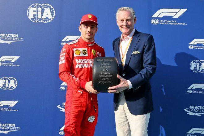 2019年F1アブダビGP、ポールポジション獲得のシャルル・ルクレール、F1の商業担当取締役のショーン・ブラッチス
