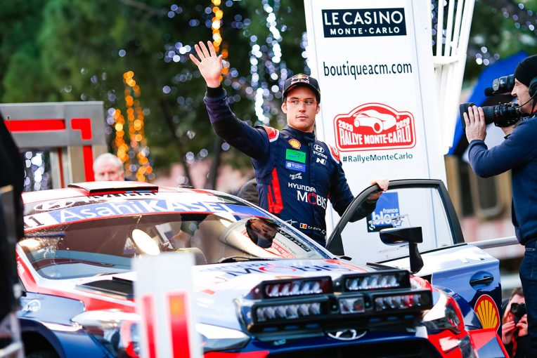 ラリー/WRC   2020年のWRC開幕戦、第1戦モンテカルロ初日はヌービルが首位。トヨタのオジエが総合2番手