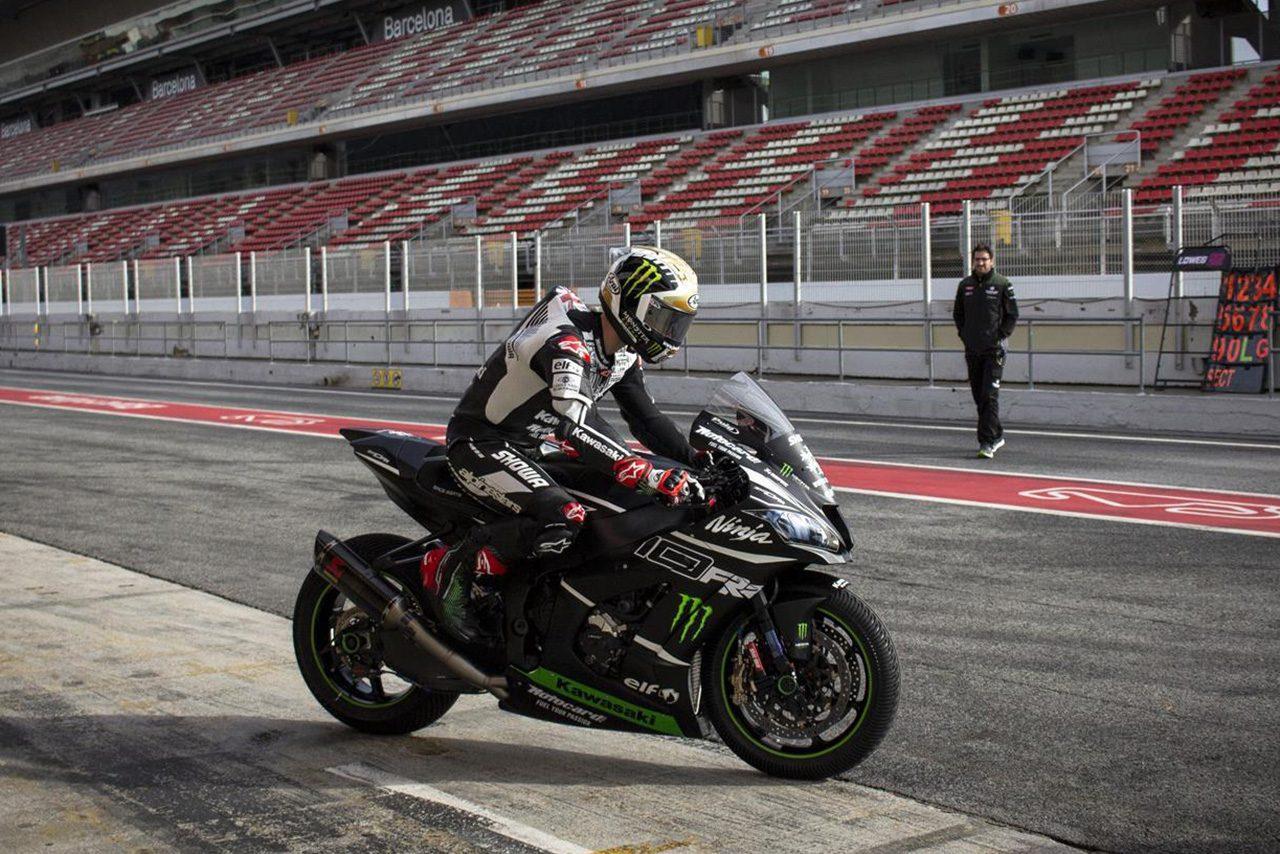SBK:カワサキがカタルーニャでプライベートテスト実施。「ここでもバイクはうまく機能する」と初走行のレイ