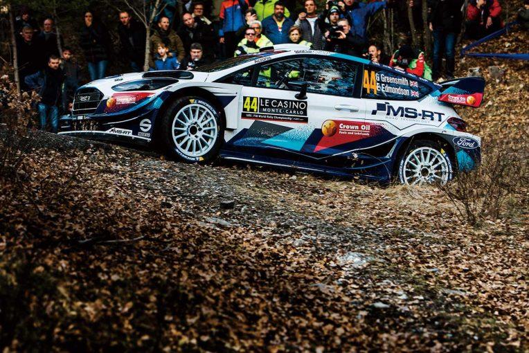 ラリー/WRC   戦闘力改善が急務のフォード・フィエスタWRC。開幕戦ではトラブルも続発/2020WRカーテクニカルチェック