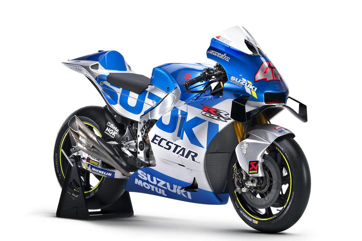 MotoGP:スズキ、セパンで2020年型GSX-RRをアンベイル。マシンはシルバーが追加されたニューカラーに