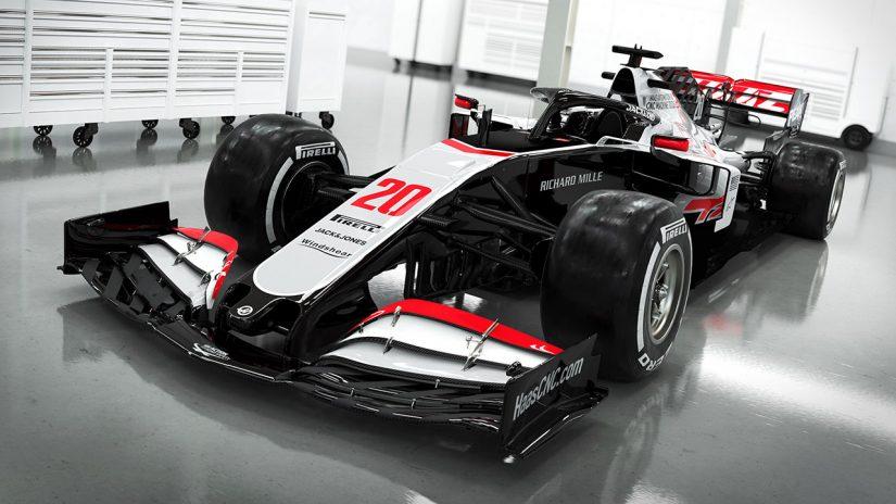 F1 | ハースF1チーム、2020年型マシン『VF-20』のカラーリングを発表。モノクロ基調に一新