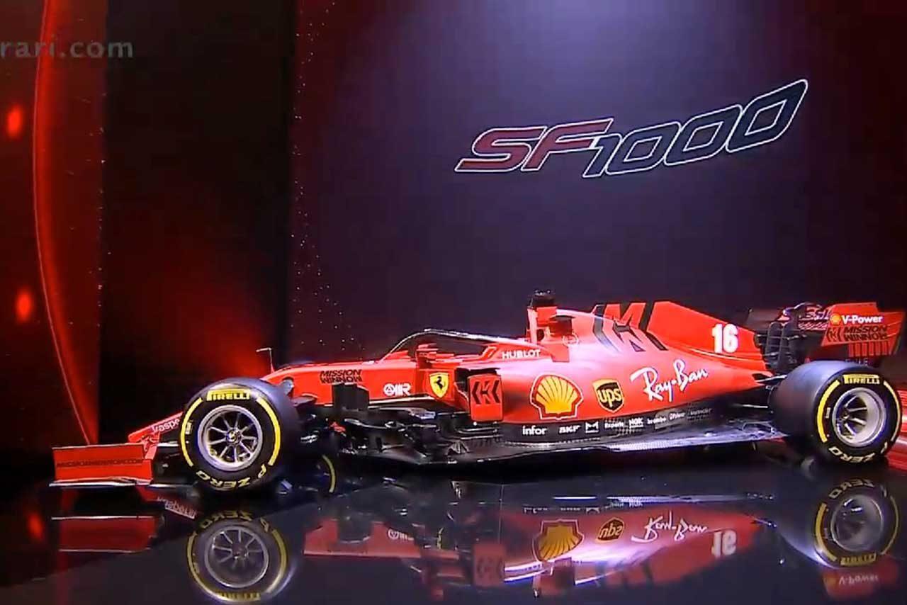 フェラーリF1の2020年型マシン『SF1000』