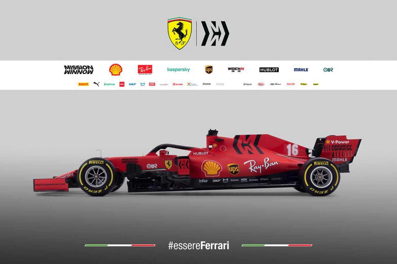 フェラーリの2020年型F1マシン『SF1000』