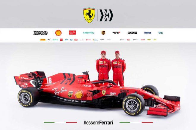 フェラーリの2020年型F1マシン『SF1000』。ドライバーはセバスチャン・ベッテルとシャルル・ルクレールのふたりが続投する